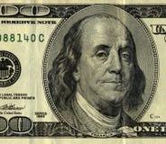 Ben 100 rachunku dolara pan szczery Zdjęcie Royalty Free