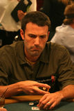 Ben Affleck. Playing poker at the  Ante up for Africa Poker Tournament at the 2008 World Series of Poker, at the Rio All-Suite Hotel & Casino in Las Vegas, NV Royalty Free Stock Photos