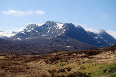 Ben Alder. A munro in the Scottish highlands, basking in the spring sunshine Stock Photos