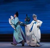 """ben als vogels die in verschillend de richting-zevende handelingsdesintegratie van familie-Kunqu Opera""""Madame Witte Snake† v Royalty-vrije Stock Afbeelding"""