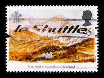 Ben Arkle, Sutherland, Escócia, 25o aniversário da investidura do serie do príncipe de Gales, cerca de 1994 Imagens de Stock Royalty Free