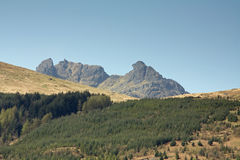 Ben Arthur (The Cobbler), Arrochar, Scotland. Scottish mountain called Ben Arthur also known as The Cobbler at Arrochar, Scotland royalty free stock images