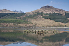 Ben Arthur (The Cobbler) from Loch Long, Arrochar, Royalty Free Stock Photos