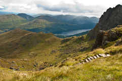 Ben Arthur - The Cobbler. View from the summit - The Cobbler - Scotland Stock Photo
