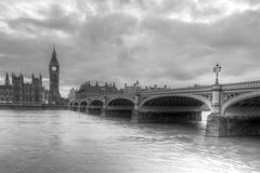 Ben Ben. Westminster Bridge and Big Ben in London, England Stock Image