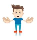 Ben Boy Cartoon Character Toon man royaltyfri illustrationer
