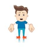 Ben Boy Cartoon Character Toon man Arkivfoto