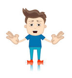 Ben Boy Cartoon Character Toon man Royaltyfria Bilder