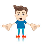 Ben Boy Cartoon Character Toon Man. Illustration Royalty Free Stock Photo
