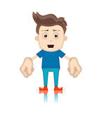 Ben Boy Cartoon Character Toon Man Stock Photo