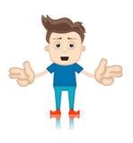 Ben Boy Cartoon Character Toon-Mens Stock Foto's