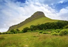 Ben Bulben, County Sligo. Ben Bulben rock formation in County Sligo, Ireland royalty free stock photo