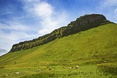 Ben Bulben, County Sligo. Ben Bulben rock formation in County Sligo, Ireland stock photos