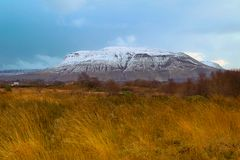 Ben Bulbin im Winter, Co Sligo, Irland Stockbilder