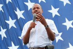 Ben Carson Family Festival, Court Avenue, Des Moines, Iowa, August 8, 2015 Royalty Free Stock Photos