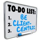 Ben Cliënt Centric Woorden om Lijst Bedrijfsstrategieopdracht te doen royalty-vrije illustratie
