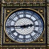 Ben Clock Face Detail grande em Londres Foto de Stock Royalty Free