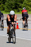Ben Cotter in the Coeur d' Alene Ironman cycling event Royalty Free Stock Photos
