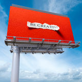 Ben creatief aanplakbordrood Royalty-vrije Stock Foto