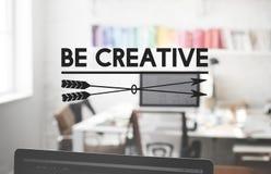Ben Cretive-het Concept van de het Talentenvaardigheid van de Perspectiefinspiratie royalty-vrije stock afbeeldingen
