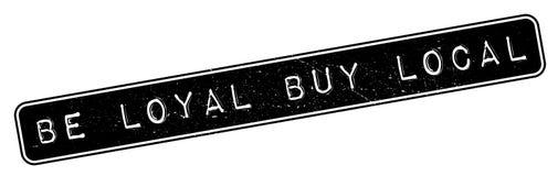 Ben de rubberzegel van Loyal Buy Local Stock Foto