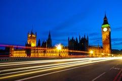 ben duży London noc scena Zdjęcia Stock
