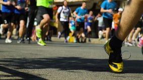 Ben för Closeupmaratonlöpare stock video