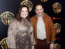 Ben Falcone, Melissa McCarthy. Ben Falcone and Melissa McCarthy at the 2019 CinemaCon - Warner Bros. Pictures `The Big Picture` Presentation held at the Caesars stock photography