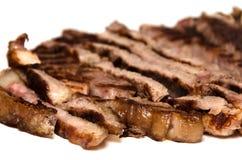 Ben fatto maggiorane dei rosmarini della bistecca di manzo Fotografie Stock Libere da Diritti