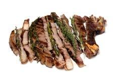 Ben fatto maggiorane tagliate bistecca del barbecue Immagini Stock Libere da Diritti