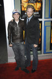 Ben Foster,Emile Hirsch. EMILE HIRSCH (left) & BEN FOSTER at the world premiere of their new movie Alpha Dog at the Arclight Theatre, Hollywood. January 3, 2007 Stock Image