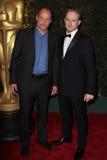 Ben Foster, Woody Harrelson Stock Afbeeldingen