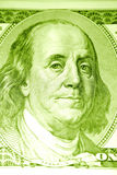 Ben Franklin on the $100 bill. A macro picture of Ben Franklin, who appears on the American $100 bill Royalty Free Stock Photos