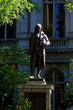 Ben franklin. Public statue of ben franklin stands in fron of the old city hall in boston massachusetts Stock Image