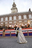 Ben Franklin and Betsy Ross actors Royalty Free Stock Photos