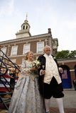 Ben Franklin and Betsy Ross actors Royalty Free Stock Photography