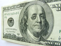 Ben Franklin with Black Eye on One Hundred Dollar  Stock Image