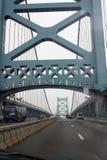 Ben Franklin Bridge. Traffic over Ben Franklin Bridge in Philadelphia, PA Stock Photo