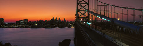 Ben Franklin Bridge. In Philadelphia Pennsylvania Stock Photos