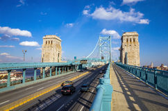 Ben Franklin Bridge Imagem de Stock Royalty Free