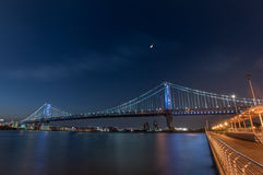 ben Franklin bridge Zdjęcia Stock