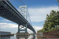 Ben Franklin bridge. Royalty Free Stock Images