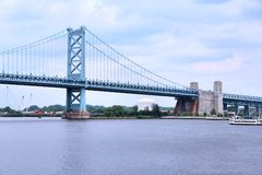 Ben Franklin bridge, Philadelphia Stock Photography