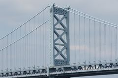 Ben Franklin Bridge Philadelphia, Pennsylvania royaltyfria bilder
