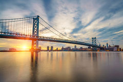 Ben Franklin Bridge in Philadelphia Royalty Free Stock Photography