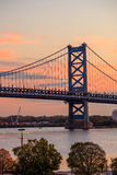 Ben Franklin Bridge in  Philadelphia Stock Images