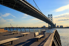 Ben Franklin Bridge in  Philadelphia Stock Photo