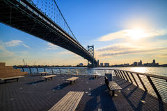 Ben Franklin Bridge in  Philadelphia Royalty Free Stock Images