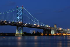 Ben Franklin Bridge, Philly Fotografie Stock Libere da Diritti