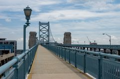Ben Franklin Bridge Walkway imagem de stock